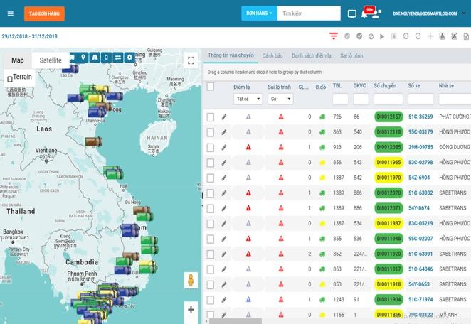 Giải pháp quản lý vận tải cập nhật toàn bộ tình trạng của quá trình giao hàng