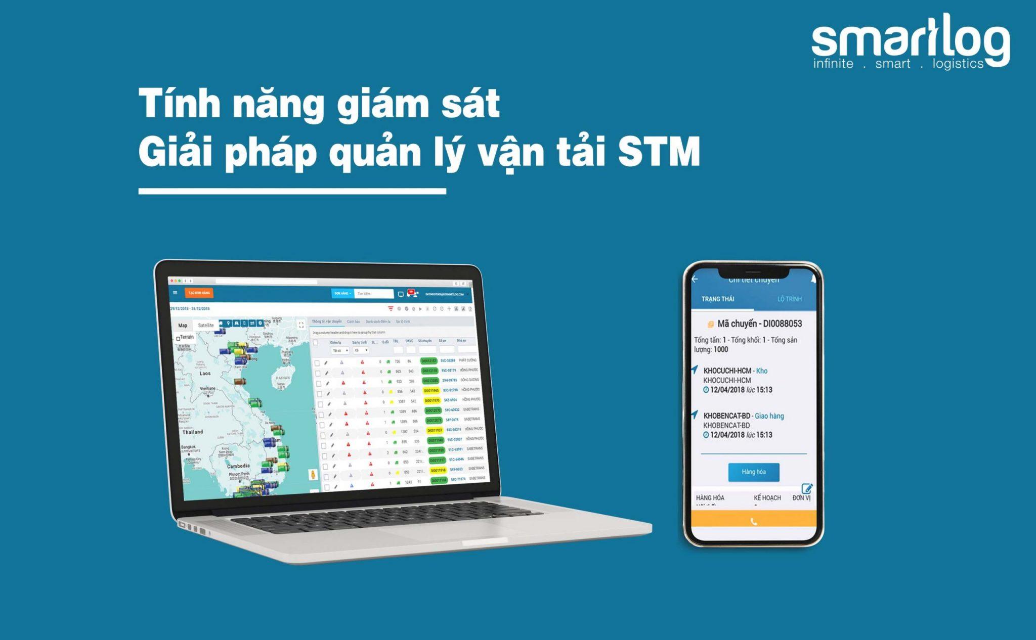Tính năng giám sát vận tải | Giải pháp quản lý vận tải STM