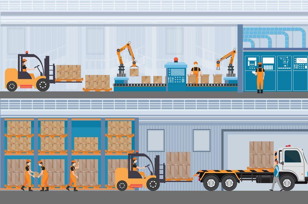 Hệ thống quản lý kho hàng WMS hỗ trợ sản xuất / lắp ráp