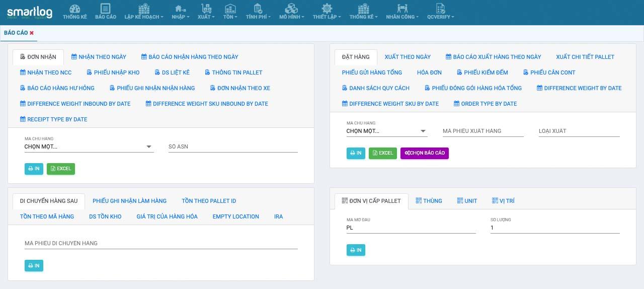 Phần mềm quản lý kho Smartlog