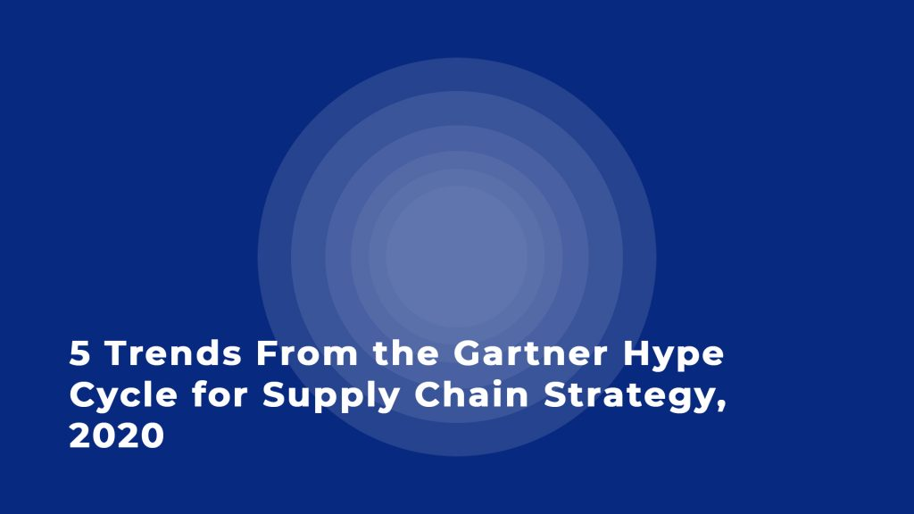 5 Trends From the Gartner Hype Cycle for Supply Chain Strategy, 2020