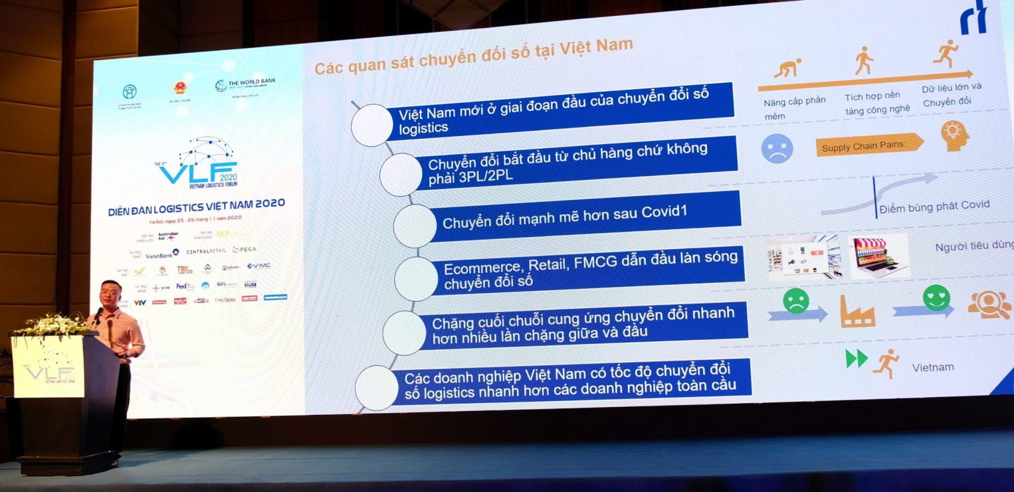 Ông Nguyễn Duy Hồng - Phó Tổng Giám đốc Công ty Smartlog chia sẻ về chủ đề chuyển đổi số logistics tại Việt Nam