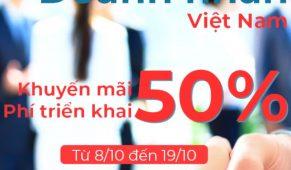 """Khuyến mãi 50% phí triển khai nhân ngày """"Doanh nhân Việt Nam"""""""